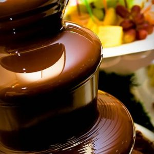 chocolate fountain printed napkins