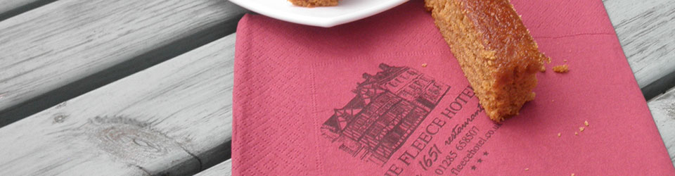 Promote your cafe with your own printed napkins