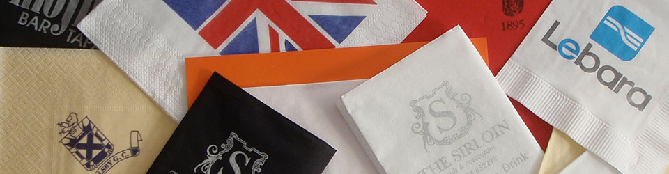 Your own bespoke designed serviettes delivered to your door